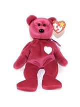 Valentina Retired Ty Beanie Baby With Tag Errors Rare No tag Protector MINT - $40.95