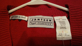 Jantzen Sweater Vest Women Size S/P  Hand Embroidered Classics  Red   NWT image 7