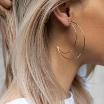 Women Moon Bohemia Metal Alloy Vintage Geometric Out Earring - $19.14 CAD+