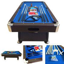 8' Feet Billiard Pool Table Snooker Full Set Accessories Game Vintage Bl... - $1,299.00