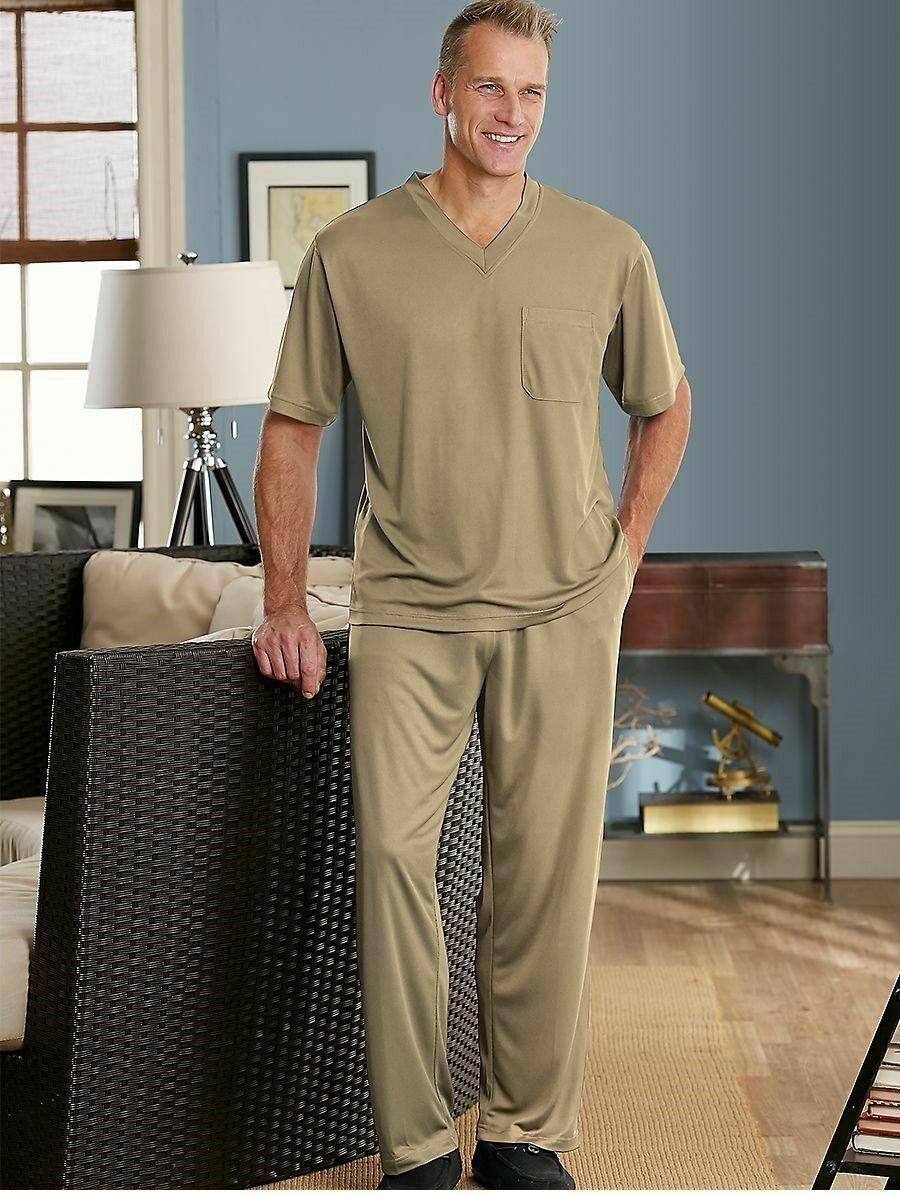 Elastic Waist---Large  XL XXL New STAFFORD Polyester FLEECE Sleep//Lounge Pants