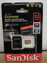 SanDisk Extreme MicroSD Card W Adapter 32GB  - $12.32