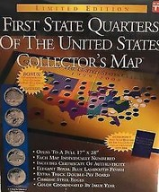 First State Quarters of the United States Collectors Map 1999 to 2008 - $8.90
