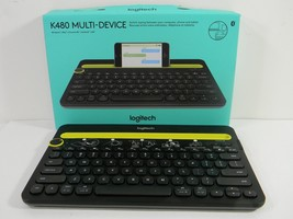 Logitech K480 Black Bluetooth Wireless Mini Multi-Device Keyboard Black 5B - $244,67 MXN