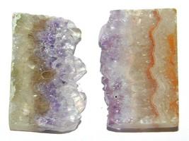 Amethyst Slice Natural Loose Gemstone Cabochon Lot Purple 70Cts. 2Pcs 33182 - $10.39