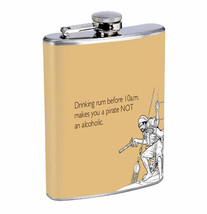 Flask Pin Up Girl Pirate Rum 01R 8oz Stainless Steel Hip Drinking Whiskey - $13.81