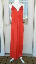 Vintage Vassarette Nightgown Size M Red Full Length Spaghetti Straps USA - $19.79
