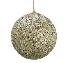 "Allstate 3.5"" Winter Light Ball of Shiny Gold String Christmas Ball Orna... - $10.63"