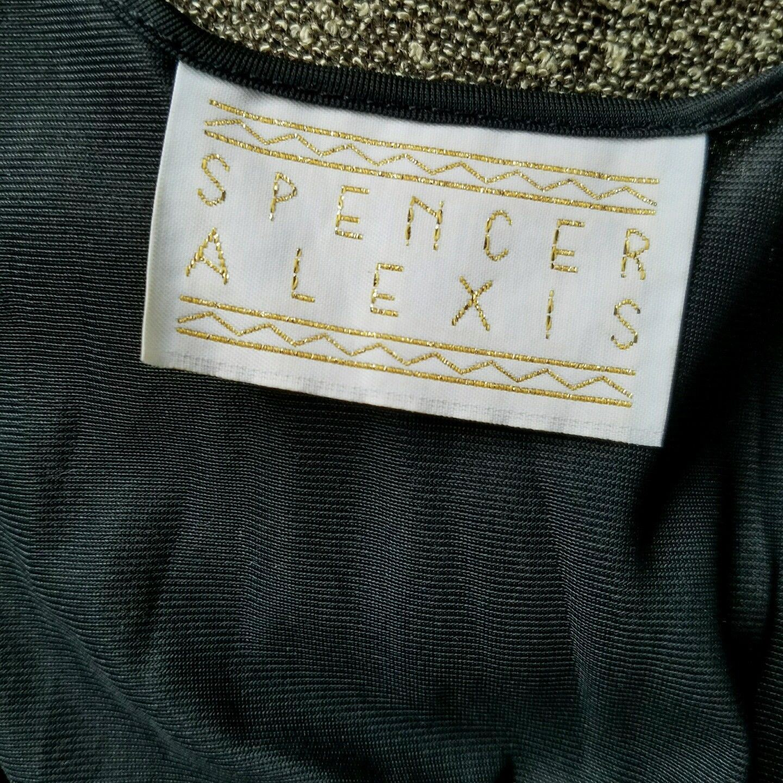 Spencer Alexis Knit Sweater Dress Asymmetrical  Hem Criss Cross Front  Size 12