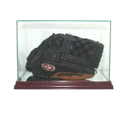 Perfect Cases Glass Baseball Glove Rectangle Display Case with Mirror