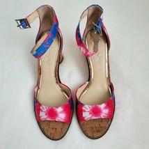 Jessica Simpson Maivel Tie Dye Cork Sandals size 10 - $34.64