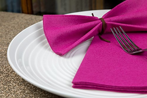 Linen Napkins Cloth Napkins Wedding Napkins Napkin Ring Holders Pink Purple Napk
