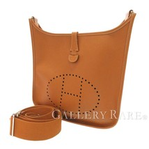 HERMES Evelyne 3 PM Veau Epsom Gold #N Shoulder Bag France Authentic - $1,687.65