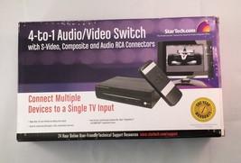 StarTech.com  (SVID410IR) 4-Ports External Video/Audio switch - $27.50
