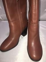 Nine West Women's HARBOURNO Cognac Leather High Heel Mid-Calf Boots size... - €47,01 EUR