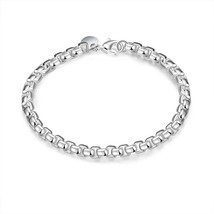 Womens 925 Sterling Silver Italy Stamped Popcorn Bracelet 2mm 8 Inches B... - $12.73