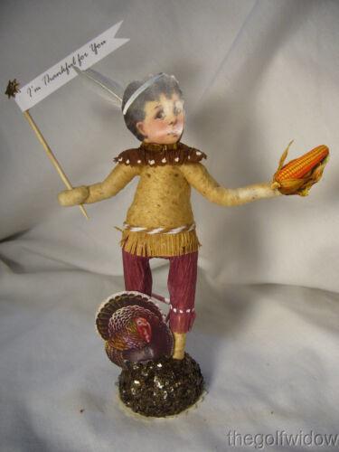 Spun Cotton Thanksgiving Native Boy Vintage by Crystal Brown Pants