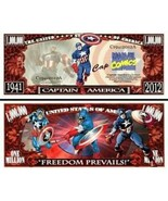 Pack of 50 - Captain America Marvel Comics Collectible Novelty Dollar Bill - $14.80