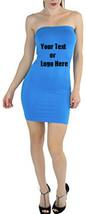 Custom Personalized Designed Womens Seamless Strapless Tube Dress - $34.95
