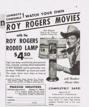1949 ROy ROGERs ROdEO LaMP moving picture lamp cowboy Print Ad - $14.99