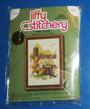 "Tree Stump Jiffy Stitchery, Crewel, 5"" x 7"", unopened - $6.89"