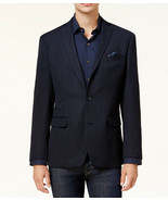 NEW MENS BAR III SLIM FIT UNSTRUCTURED NEAT KNIT NAVY BLUE SPORT COAT 40... - $54.44