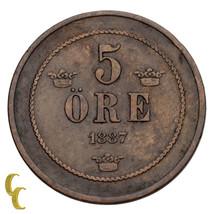 1887 Svezia 5 Ore (Ottime Condizioni) Molto Sottile Condizioni - $28.71
