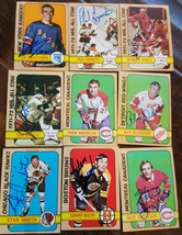 1972-73 Topps Signed Hockey Card Set Of 70/176 Hull Mikita Lafleur Esposito Keon - $593.99