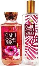 Bath and Body Works Oahu Coconut Sunset Body Spray & Bath Gel  Set of 2 - $20.69