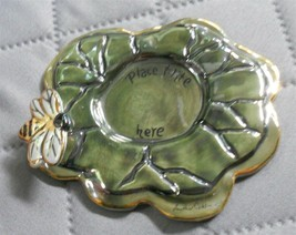Clayworks Blue Sky Votive Holder Bumble Bee Lily Pad - $14.83