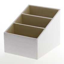 JustNile White Leather Desktop Organizer - Whit... - $26.70