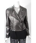 Rampage Pewter Gun Metal Short Faux Leather Jacket Sz L NWT MSRP $88 - $39.50