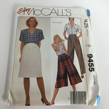 McCalls Easy Sewing Pattern 9455 Pants Skirt Culottes Uncut Size 22 Vintage 1985 - $9.99
