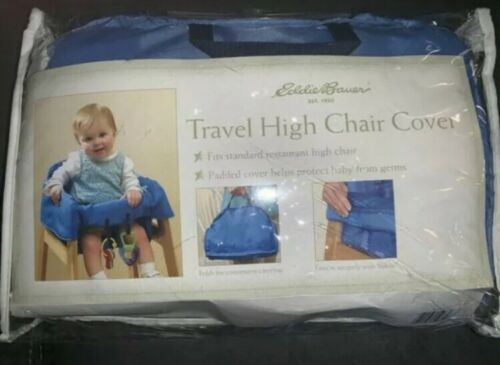 Primary image for Eddie Bauer Travel High Chair Cover Blue with Zippered Storage Bag