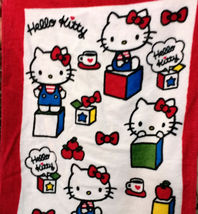 Hello Kitty Cute Pattern 34 X 80 Cm Red Color Exercise / Shower Use Cotton Towel - $10.99