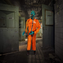 Haunted Hill Farm Life-Size Animatronic Zombie, Indoor/Outdoor, Laughing... - $278.98