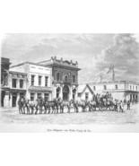 SALT LAKE CITY Main Street Wells Fargo & Co Stagecoach Utah - 1883 Germa... - $16.20