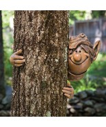Garden Elf Tree Hugger Decoration Hanging Sculp... - $34.95