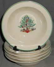 Set (5) Gibson Christmas Memories Pattern Soup Or Cereal Bowls - $29.69