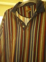 3 Long Sleeve Alstyle Strips Vntg 1/4 Button Multi Color - $173.70