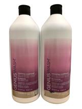 Redken Genius Wash Cleansing Conditioner Coarse Hair DUO 33.8 OZ Each - $59.99