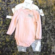 NWT $45 Calvin Klein Layette Set Pants Long & Short Sleeves Baby Girl 12 MONTHS - $19.78