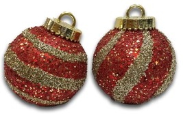 "Ball Ornaments Table Decor Christmas Glitter Sequins 9"" Tall Pair Set 2 ... - $39.55"
