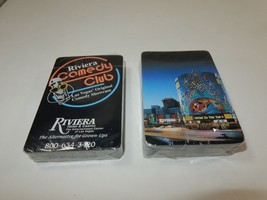 Riviera Hotel & Casino Comedy Club Playing Cards Las Vegas 2 Decks SEALED - $9.99