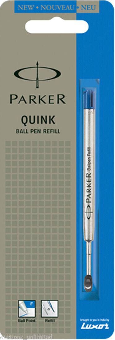 1 x Parker Quink Flow Ball Point Pen Refill BallPen Blue Fine Brand New Sealed