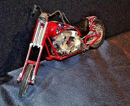 Chopper Motorcycle Figurine Replica 305-BVintage image 3
