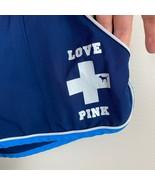 Victorias Secret PINK Shorts M Lifeguard Navy Blue VS Love Pink Graphic ... - $24.09