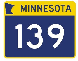 Minnesota State Highway 139 Sticker Decal R4962 Highway Route Sign - $1.45+