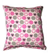 Hearts Pillow Dots Pillow Handmade In USA Kiss me, Be Mine Pillow - $9.99