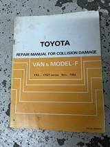 1985 1986 Toyota Van & Modèle F Réparation Manuel Pour Collision Damage ... - $88.66